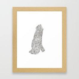 ink creature Framed Art Print