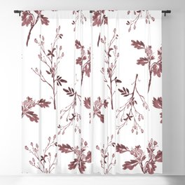 Sepia Christmas Berries Pattern Blackout Curtain