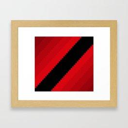 Pixel Bloody Dreams - Red Framed Art Print
