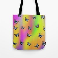butterflies Tote Bags featuring Butterflies by Fine Art by Rina