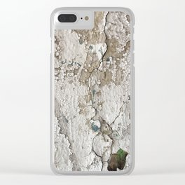 White Decay III Clear iPhone Case
