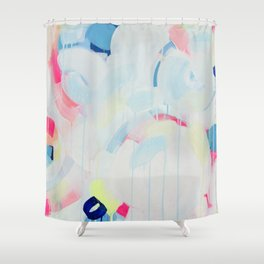 Instant Crush - Abstract painting by Jen Sievers Shower Curtain