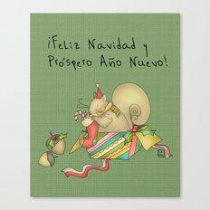 Navidad Canvas Print