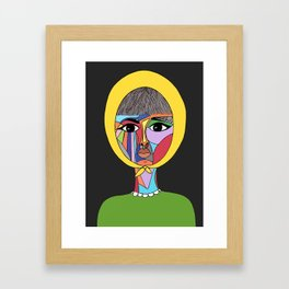 Colorful Lady Framed Art Print