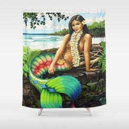 Island Mermaid Shower Curtain