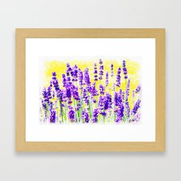 Lavender Watercolor Framed Art Print
