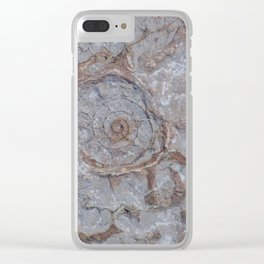 Ammonite Fossil Clear iPhone Case