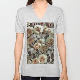 Toony World Floral 3 Unisex V-Neck