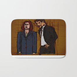 there's something out there, mulder Bath Mat