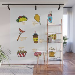 Calorie Counting Junk Food Wall Mural