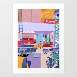 Eames House - Pencil illustration Art Print