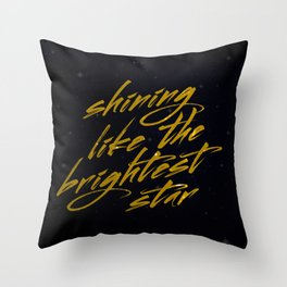 Shining Like The Brightest Star Throw Pillow