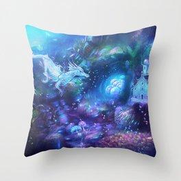 Water Dragon Kingdom Throw Pillow