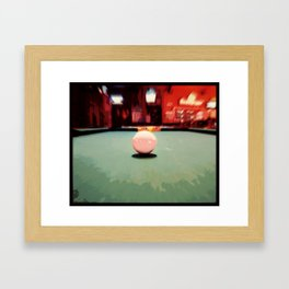 Cue Ball Abstract  Framed Art Print