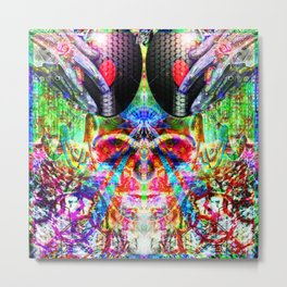 Deprogram With Music - Grime Weasel Metal Print