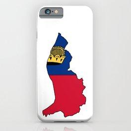 Liechtenstein Map with Liechtensteiner Flag iPhone Case