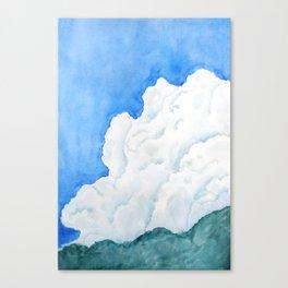 summer cloud watercolor Canvas Print