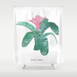 Silver Vase Plant Shower Curtain