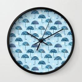 rain #1 Wall Clock
