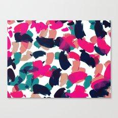 Pinky Brushstorkes Landscape Canvas Print