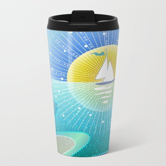 Sunny Sailing Metal Travel Mug