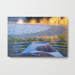 Beauty on Ice kayaking on McCloud Reservoir Metal Print
