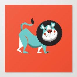 Evan the lion Canvas Print