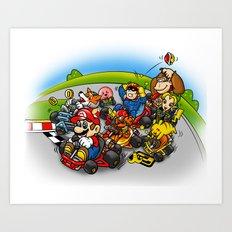 Super Smash Kart Art Print