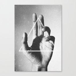 hand + triangle Canvas Print