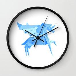 Origami Pegasus Wall Clock