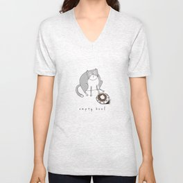 Cat-Empty Bowl Unisex V-Neck