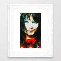 bjork Framed Art Prints featuring BJork by avida