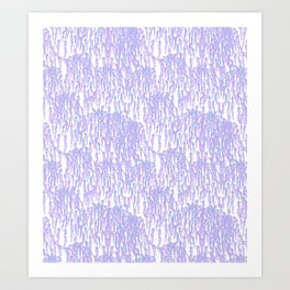 Cascading Wisteria in Lilac + White Art Print