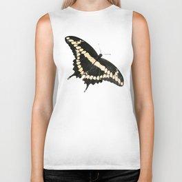 Butterfly Illustrated Print Biker Tank