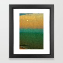 Sea ~ Moon Framed Art Print