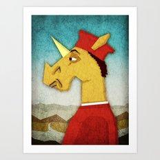 Federico Da Unicornio Art Print