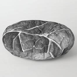 LEAF STRUCTURE no2a BLACK AND WHITE Floor Pillow