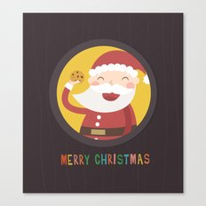 Day 24/25 Advent - Santa's Cookie Canvas Print
