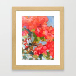 Vermillion Blooms Framed Art Print