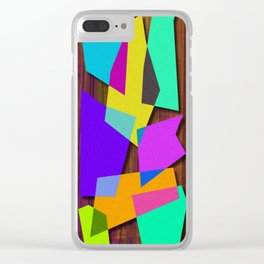 Sharp Shapes texture Clear iPhone Case