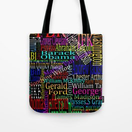 Graphic Presidents Tote Bag