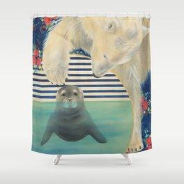 Polar Plunge Shower Curtain