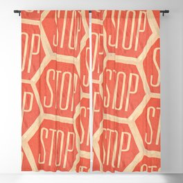 Stop Vintage Blackout Curtain