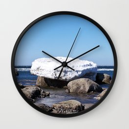 Perched on the Boulders Wall Clock