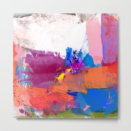 polo abstract red blue Metal Print