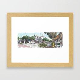 First Street, Davis Framed Art Print