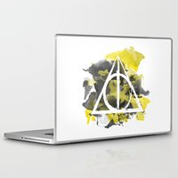 hufflepuff Laptop & iPad Skins featuring The Deathly Hallows (Hufflepuff) by FictionTea