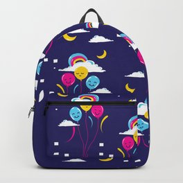 Balloons in the night sky Backpack