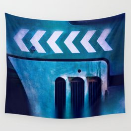 Road Roller Chevron 04 - Industrial Abstract (everyday 20.01.2017) Wall Tapestry