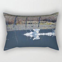 Swans Landing I Rectangular Pillow